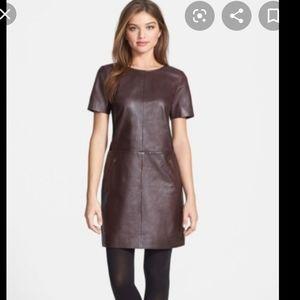 HALOGEN Leather Dress Medium